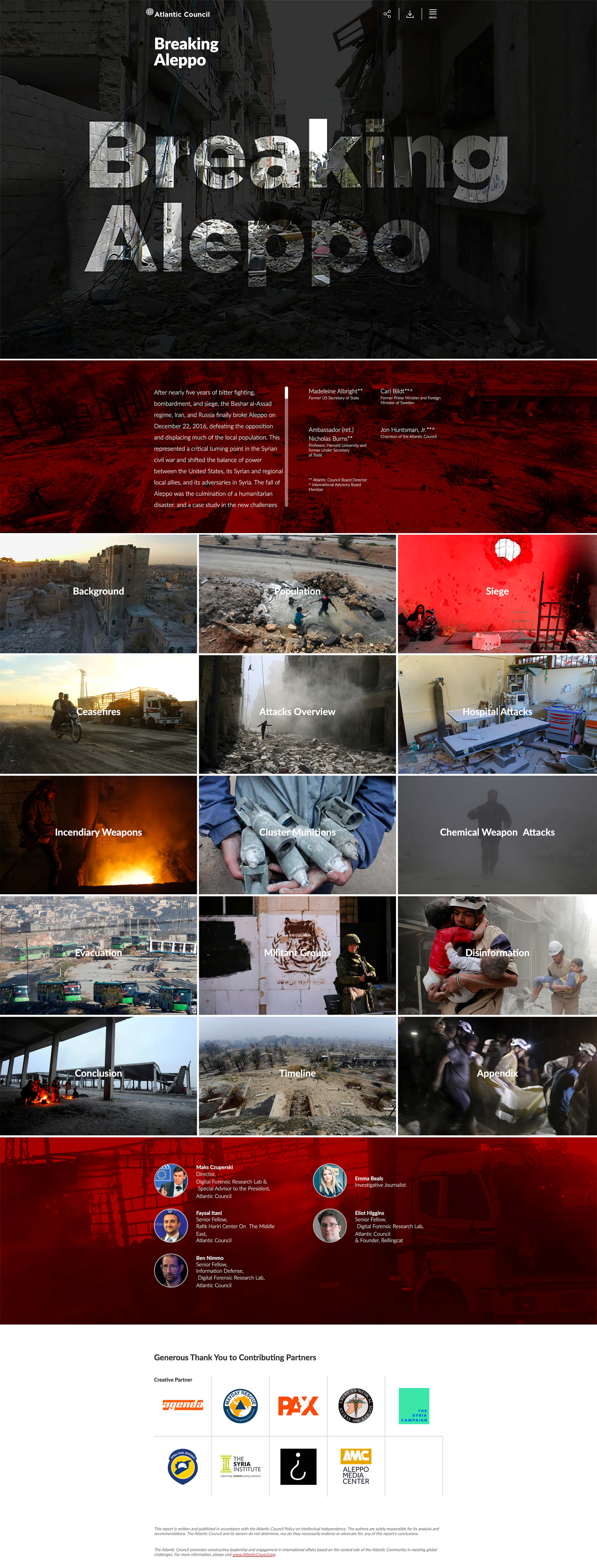 Breaking Aleppo website screenshot