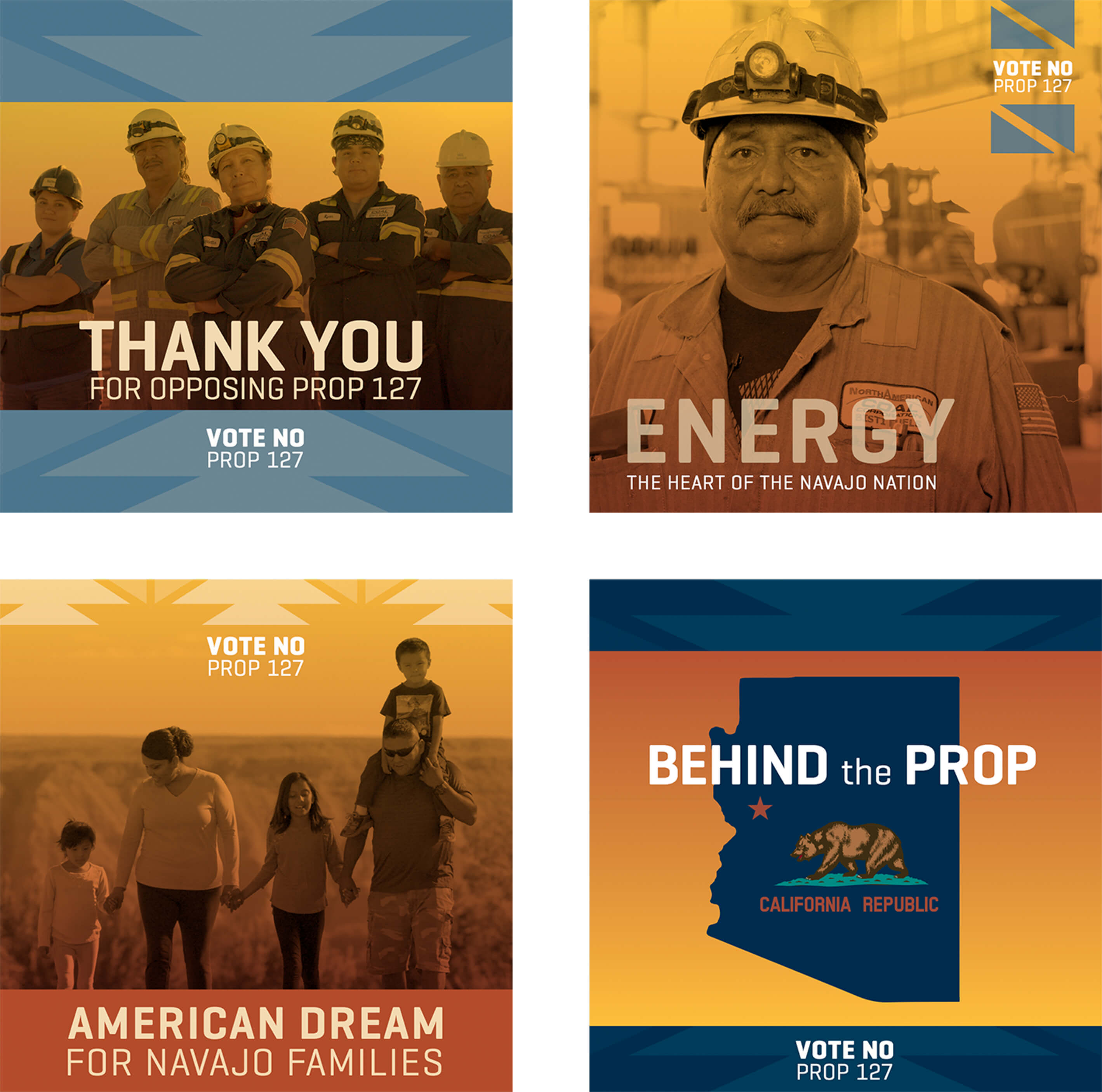Navajo Transitional Energy Thank You cards and posters design